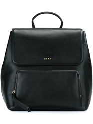 Dkny Zip Pocket Backpack Black