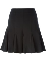 Opening Ceremony Pleated Hem A Line Skirt Black