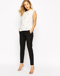 Oasis Tailored Trousers Black