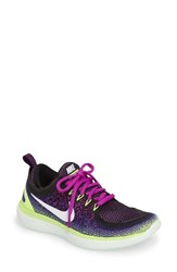 Nike Women's Free Rn Distance 2 Running Shoe Hyper Volt White Green