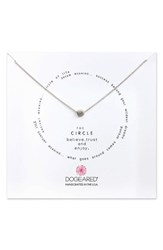 Dogeared Women's Circle Pendant Necklace Silver