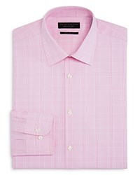 Bloomingdale's The Men's Store At Large Check Regular Fit Dress Shirt 100 Exclusive Pink