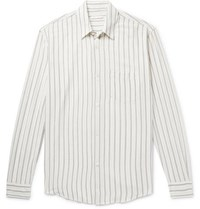 Our Legacy Initial Striped Crepe Shirt White