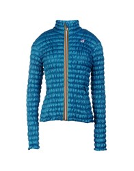 K Way Down Jackets Turquoise