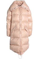 Nina Ricci Quilted Coated Shell Down Coat Blush