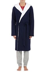 Hamilton And Hare Men's Cotton Hooded Robe Navy