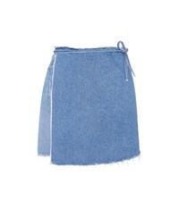 Grlfrnd Elle Denim Wrap Skirt Blue