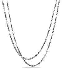 David Yurman Oval Link Necklace 72 Silver