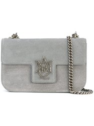 Alexander Mcqueen Insignia Satchel Women Leather Suede One Size Grey