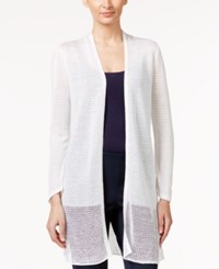 Alfani Petite Illusion Duster Cardigan Only At Macy's Bright White