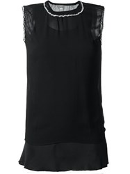 Jupe By Jackie Sheer Tank Top Black