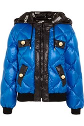 Moschino Quilted Shell Coat Cobalt Blue