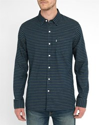 Levi's Blue Striped Oxford Jacquard Shirt