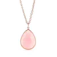 Irene Neuwirth 18Kt Rose Gold Necklace With Pink Opal Drop