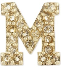 Marc Jacobs M Single Stud Earring Citrine Gold