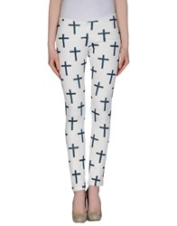 Minimal Trousers Casual Trousers Women Ivory