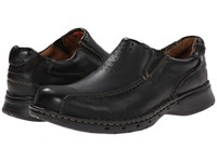 Clarks Un.Seal Black Leather Men's Slip On Shoes