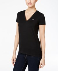 Lacoste V Neck T Shirt Black