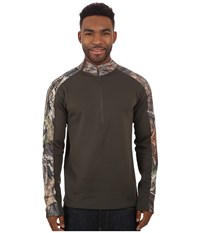 Terramar 4.0 Predator Ii Quarter Zip Mossy Oak Break Up Country Dark Loden Men's Long Sleeve Pullover Brown