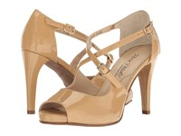 Walking Cradles Lissa Nude Patent High Heels Beige