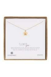 Dogeared 14K Gold Plated Sterling Silver Bridal Flower Girl Necklace Metallic
