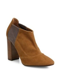 Aquatalia By Marvin K Vale Stretch Suede Booties Caramel Black