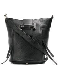 Tod's Double T Small Bucket Bag Black