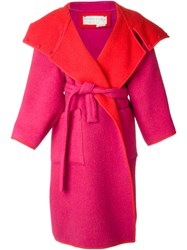 Jc De Castelbajac Vintage Reversible Oversized Coat Red