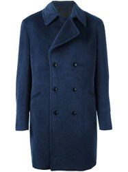 Etro Double Breasted Coat Blue