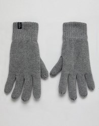 Selected Homme Winter Gloves Grey