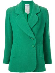 Chanel Vintage Double Breasted Blazer Green
