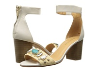 Enzo Angiolini Gavenia White Natural Leather High Heels