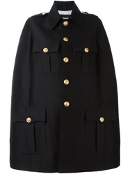Dsquared2 Oversize Military Style Coat Black
