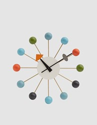 Vitra George Nelson Ball Clock In Multicolor Multicolored