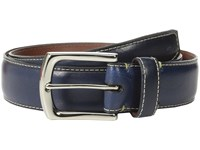 Torino Leather Co. 35Mm Burnished Tumbled Veal W Polished Nickel Navy Men's Belts