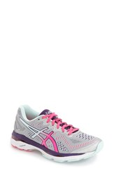 Asicsr Women's Asics 'Gel Kayano 23' Running Shoe Silver Pink Glow Purple