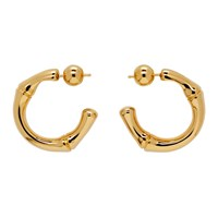 Sophie Buhai Gold Thick Bamboo Hoop Earrings