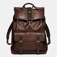 Coach Bleecker Backpack In Leather Mahogany