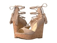 Ivanka Trump Hellan3 Light Natural Fh Kid Suede Women's Wedge Shoes Gray