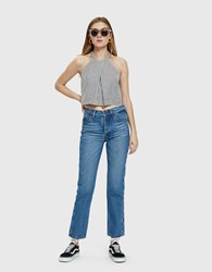 Bliss And Mischief Collector Fit Straight Leg Jean Medium Wash