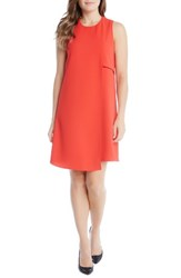 Karen Kane Women's Asymmetrical Shift Dress Tomato