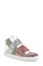 Maison Martin Margiela Women's Mm6 Maison Margiela Glitter High Top Sneaker Pink