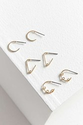 Urban Outfitters Wire Hoop Earring Set Gold