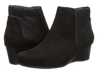 Rockport Total Motion 45Mm Wedge Bootie Black Kid Hair On Women's Zip Boots