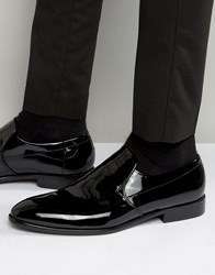 Boss Hugo By Hugo Dressapp Patent Slip On Loafers Black
