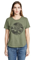 Sol Angeles Eagle Side Slit Tee Military