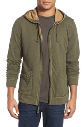 Jeremiah 'Rowan' Double Face Full Zip Hoodie Green
