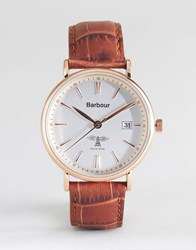 Barbour Bb069slbr Bamburgh Leather Watch In Tan