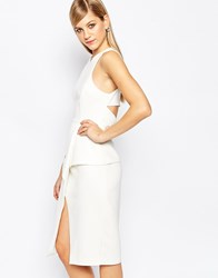 Finders Keepers Lonely Hour Origami Dress White