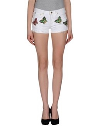 Beayukmui Denim Shorts White